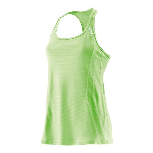 Womens 2XU Ice X Singlets Technical Tops - Neon Lime/Neon Lime M