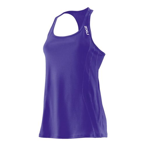 Womens 2XU Ice X Singlets Technical Tops - Purple Hue/Purple Hue L