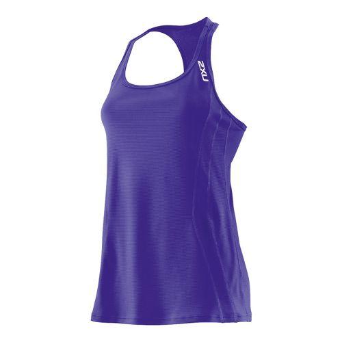 Womens 2XU Ice X Singlets Technical Tops - Purple Hue/Purple Hue XL