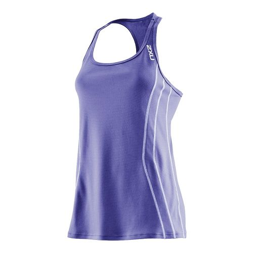 Womens 2XU Ice X Singlets Technical Tops - Purple Haze/Lilac Haze XS