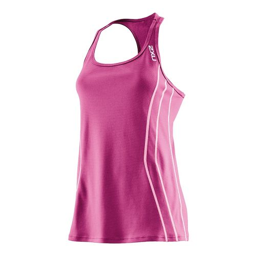 Womens 2XU Ice X Singlets Technical Tops - Ultra Violet/Violet M