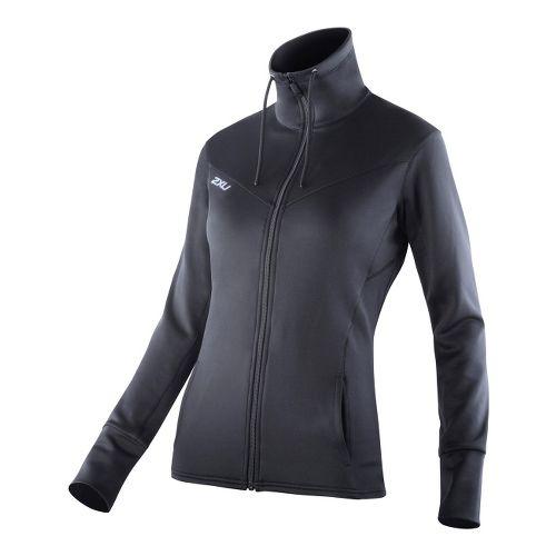Womens 2XU Performance Track Running Jackets - Black/Black M