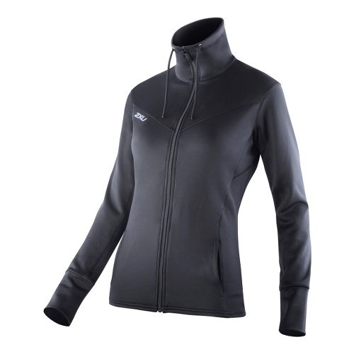 Womens 2XU Performance Track Running Jackets - Black/Black S