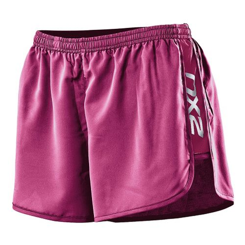 Womens 2XU Run Splits Shorts - Ultra Violet/Ultra Violet XS