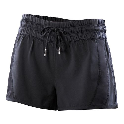 Womens 2XU Freestyle Unlined Shorts - Black/Black XL