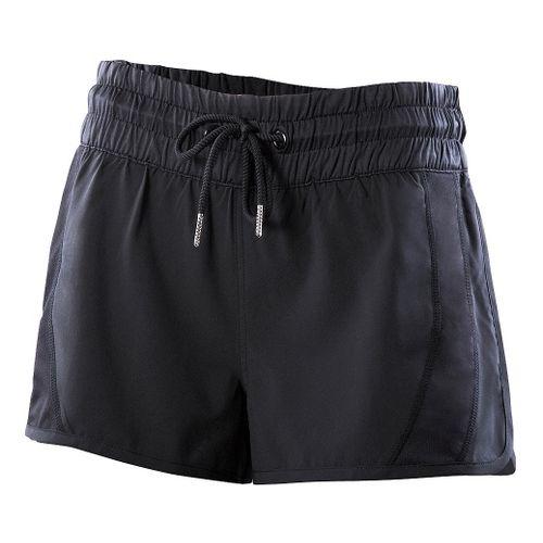 Womens 2XU Freestyle Unlined Shorts - Black/Black XS