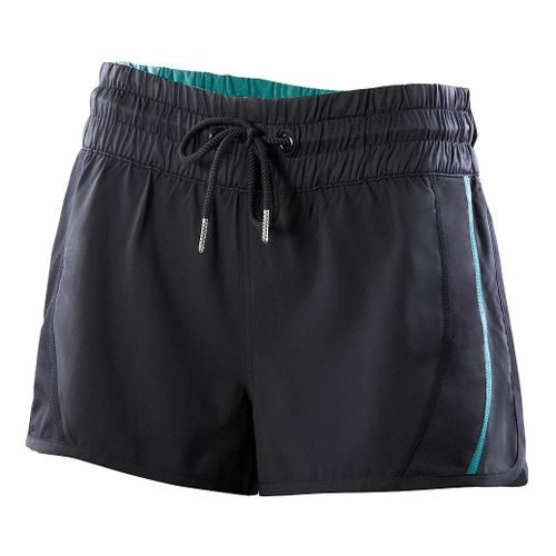 Womens 2XU Freestyle Unlined Shorts - Black/Spectrum Green L