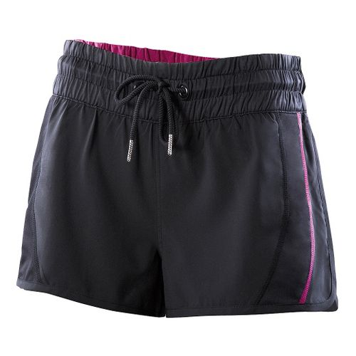 Womens 2XU Freestyle Unlined Shorts - Black/Ultra Violet L