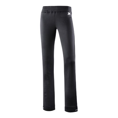 Womens 2XU Performance Track Full Length Pants - Black/Black S