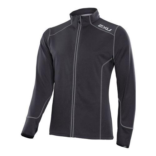 Mens 2XU SMD Thermo Run Top Running Jackets - Black/Black M