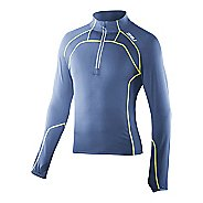 Mens 2XU 3/4 Zip Thru Run Top Long Sleeve Technical Tops