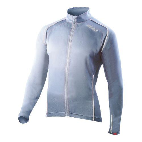 Mens 2XU Vapor Mesh 360 Running Jackets - Blue Glass/Neon Red M