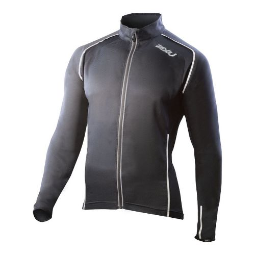 Mens 2XU Vapor Mesh 360 Running Jackets - Black/Black XL