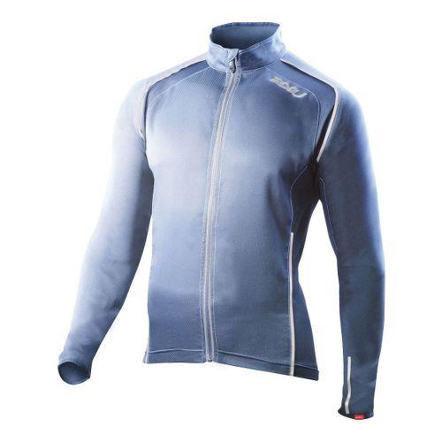 Mens 2XU Vapor Mesh 360 Running Jackets - Blue Stone/Blue Glass XL