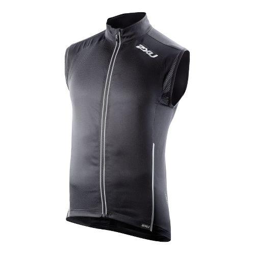 Mens 2XU Vapor Mesh 360 Running Vests - Black/Black S
