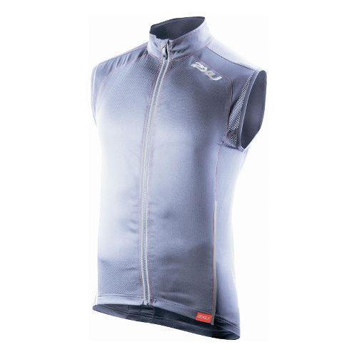 Mens 2XU Vapor Mesh 360 Running Vests - Blue Stone/Neon Red XS