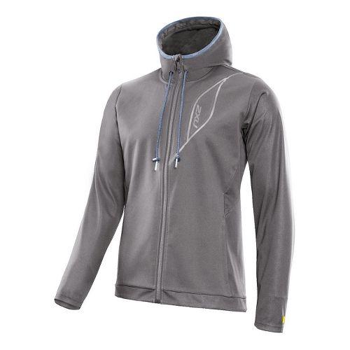 Mens 2XU Perform Cruize Outerwear Jackets - Slate/Blue Glass S
