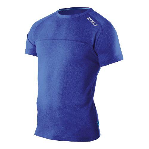 Mens 2XU Movement Short Sleeve Technical Tops - Nautic Blue/Nautic Blue S