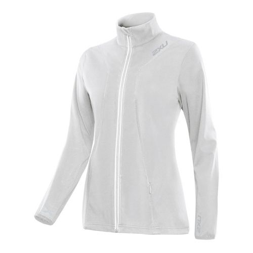 Womens 2XU Perform Running Jackets - Concrete Grey/Concrete Grey S