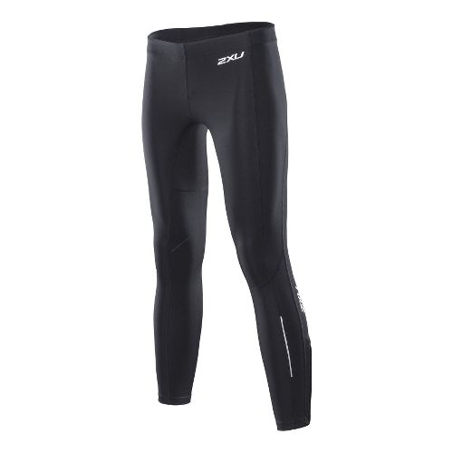 Womens 2XU Sub Zero Fitted Tights - Black/Black M