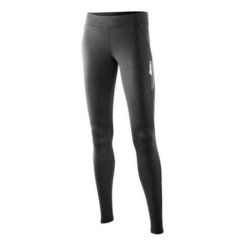 Womens 2XU Trainer Fitted Tights - Black/Black XS