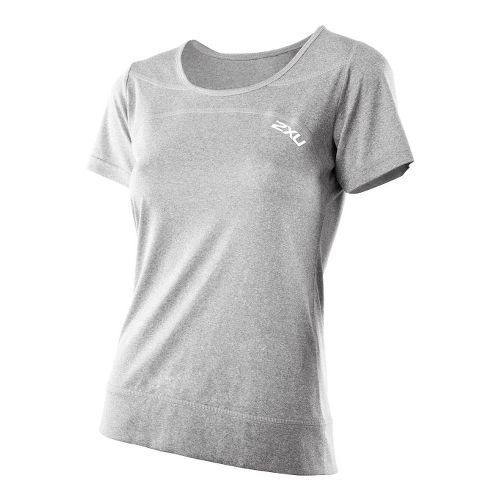 Womens 2XU Movement Tee Short Sleeve Technical Tops - Concrete Grey Marle/Concrete Grey Marle S ...