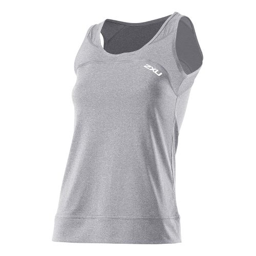 Womens 2XU Movement Tanks Technical Tops - Light Grey Marle/Light Grey Marle M