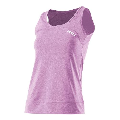 Womens 2XU Movement Tanks Technical Tops - Violet Varnish Marle/Violet Varnish Marle S