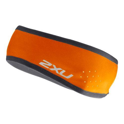 2XU Unisex Microclimate Headband Headwear - Blazing Orange/Charcoal