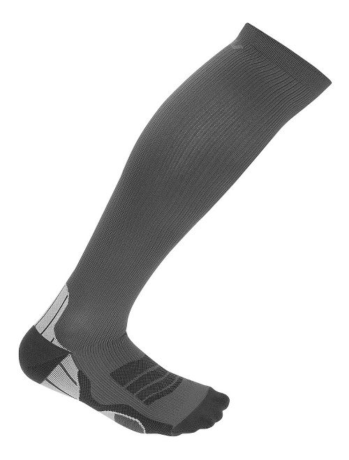 Mens 2XU  Compression Sock Injury Recovery - Titanium/Black XS