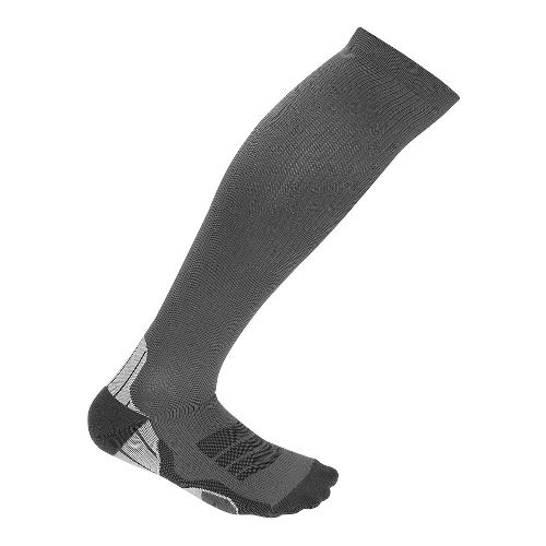Mens 2XU  Compression Sock Injury Recovery - Titanium/Black L