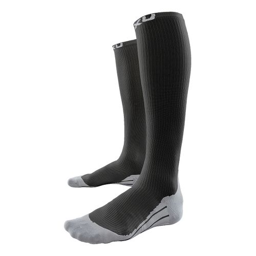 Mens 2XU Compression Race Sock Injury Recovery - Black/Grey XL