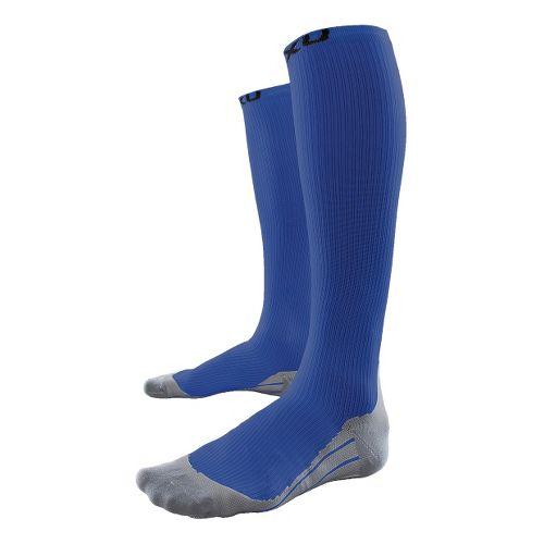 Mens 2XU Compression Race Sock Injury Recovery - Blue/Grey XL