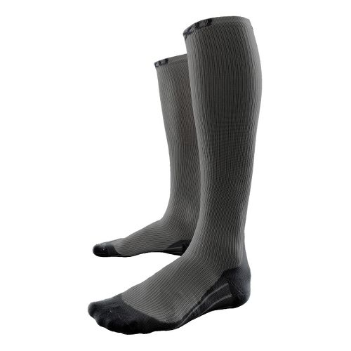 Mens 2XU Compression Race Sock Injury Recovery - Grey/Black XL