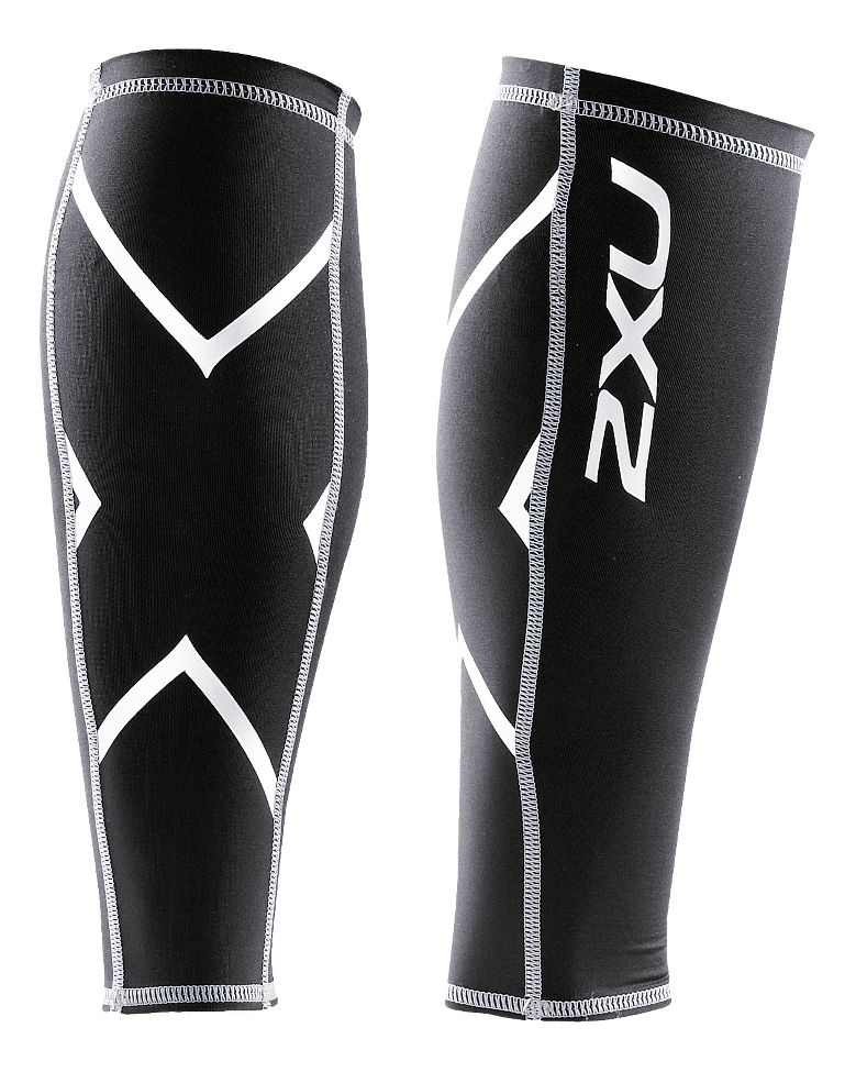 Women's Non-Stirrup Calf Guard :: With Graduated Compression engineering to promote increased circulation, the 2XU® Elite Race Sock enhances blood flow and supports and stabilizes the calf and key muscles in the lower leg during training and competition to allow these muscles to operate more efficiently with more power and less fatigue. The Elite Sock utilizes an additional support band in the Achilles/ankle area for maximum stability. The Elite sock also promotes increased circulation to flush by-products more efficiently and minimize blood pooling in the extremities. This popular sock also channels air, wicks moisture and boasts a linked toe cage to enhance comfort during use. Perfect for endurance events.   This web exclusive item ships separately via Standard Ground Shipping to physical street addresses within the continental U.S. only. You can count on this item to ship in 3-5 business days!