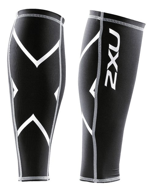 2XU Non-Stirrup Calf Guard Injury Recovery - Black/Black XXL