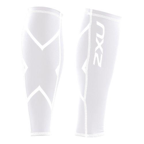 Unisex 2XU Non-Stirrup Calf Guard Injury Recovery - White/White L