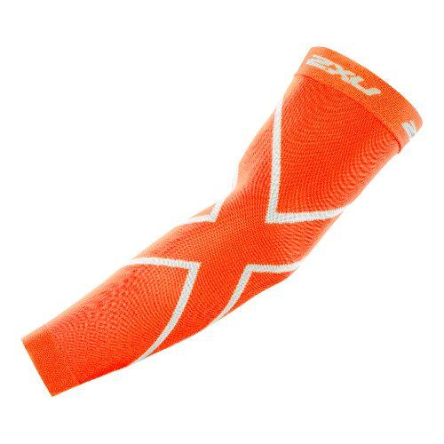 2XU Recovery Arm Sleeves Injury Recovery - Orange/Orange L