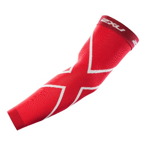 2XU Recovery Arm Sleeves Injury Recovery - Red/Red L