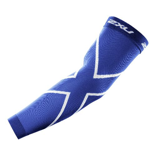 2XU Recovery Arm Sleeves Injury Recovery - Royal Blue/Royal Blue L