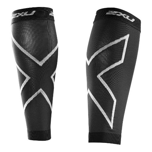 2XU Recovery Calf Sleeves Injury Recovery - Black/Black XXL