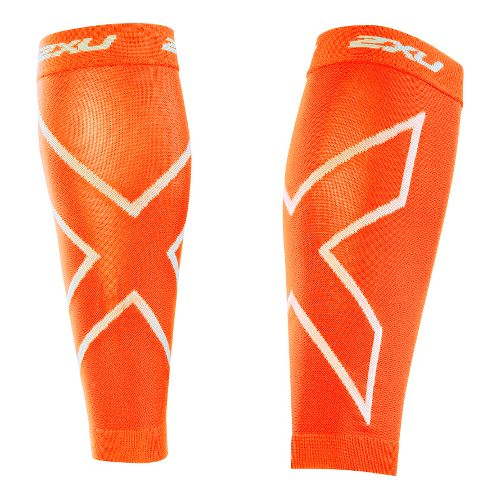2XU Recovery Calf Sleeves Injury Recovery - Orange/Orange L