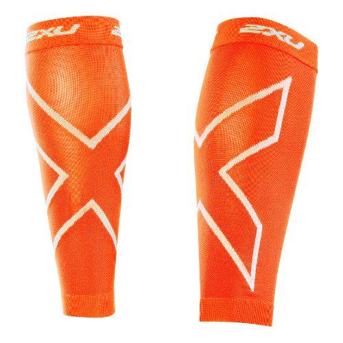 2XU Recovery Calf Sleeves Injury Recovery - Orange/Orange XL