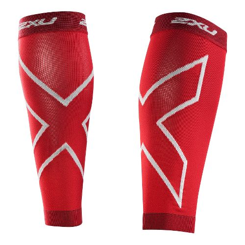 2XU Recovery Calf Sleeves Injury Recovery - Red/Red XXL