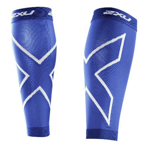 2XU Recovery Calf Sleeves Injury Recovery - Royal Blue/Royal Blue L
