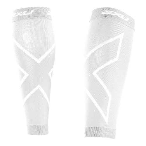2XU Recovery Calf Sleeves Injury Recovery - White/White S