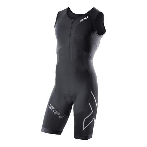 Mens 2XU G:2 Compression Trisuit UniSuits - Black/Black L