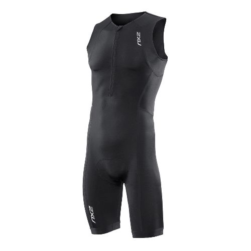 Mens 2XU Active Triathlon UniSuits - Black/Black L