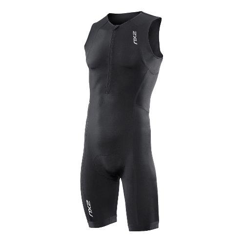 Mens 2XU Active Triathlon UniSuits - Black/Black XXL