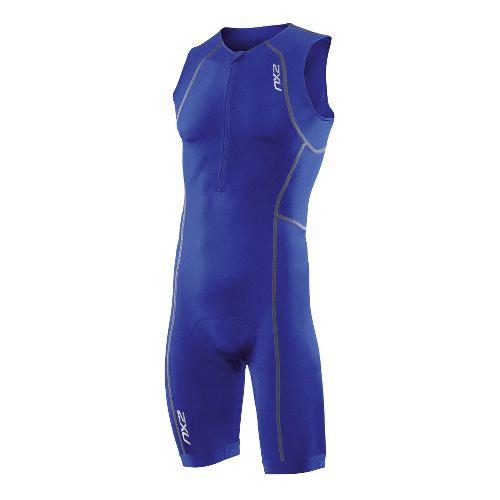 Mens 2XU Active Triathlon UniSuits - Nautic Blue/Nautic Blue S